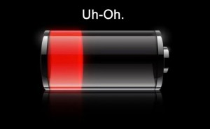 low smartphone battery